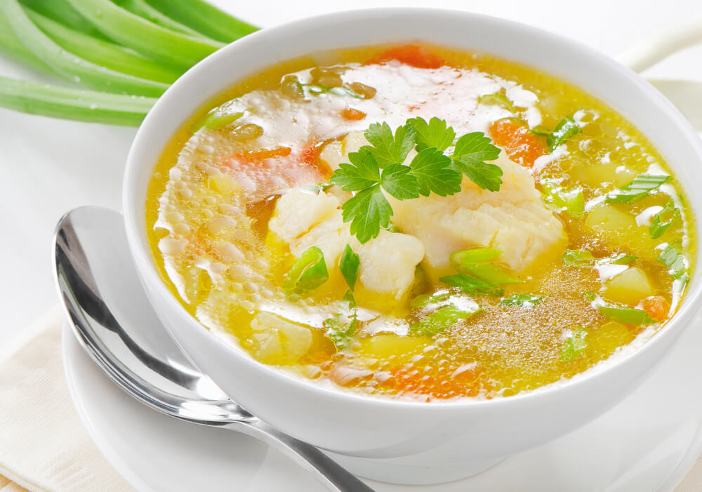California fish soup the sporting chefthe sporting chef for Fish broth soup