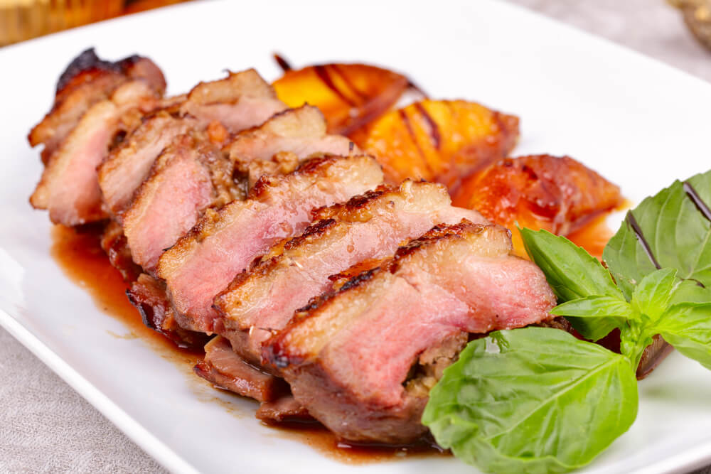 pan seared duck breasts with apple cider sauce the. Black Bedroom Furniture Sets. Home Design Ideas