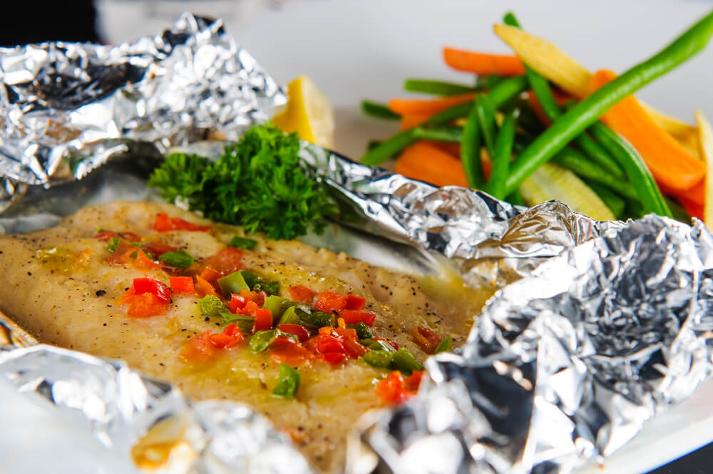 Fish in foil the sporting chefthe sporting chef for Cooking fish in foil