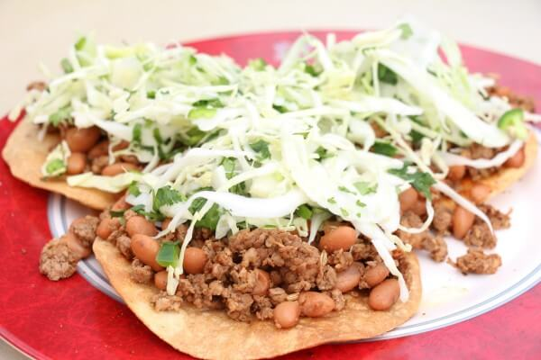 Chorizo Tostadas with Cabbage Slaw