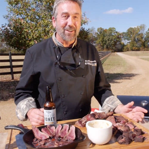 Scott Leyseth, The Sporting Chef, filming for MyOutdoorTV